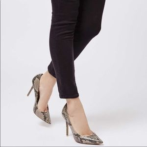 NEW! Top shop Faux Snakeskin Heels Size 7
